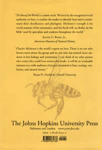 Michener, Bees of the World, Umschlag 2